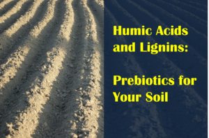 Humic Acids and Lignins are like Prebiotics for Soil