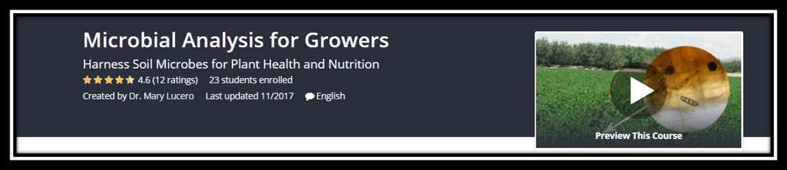 Link to online Microbial Analysis for Growers class