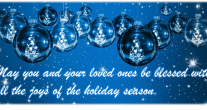 May you and your loved ones enjoy all the blessings of the holiday season.
