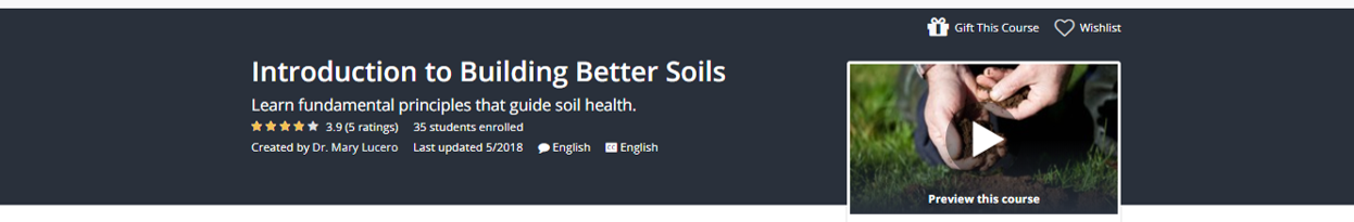 Go to https://www.udemy.com/building-better-soils/?couponCode=EENEWS to sign up.